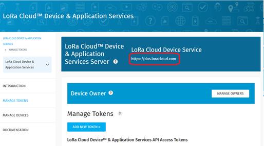 LoRa Cloud Device & Application Services URL