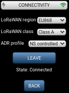LR1110 Evaluation Kit connectivity