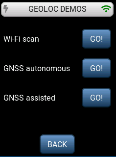 LoRa Basics Modem-E  Evaluation Kit geolocation demonstration connected to a LoRaWAN network
