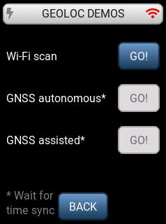 LoRa Basics Modem-E Evaluation Kit geolocation demonstration; no network connection