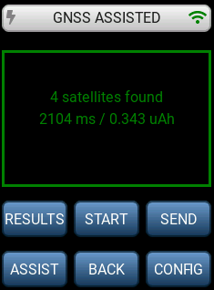 LR1110 GNSS scan results