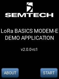 LoRa Basics Modem-E Evaluation Kit splash screen