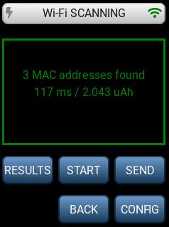LR1110 Wi-Fi scan results