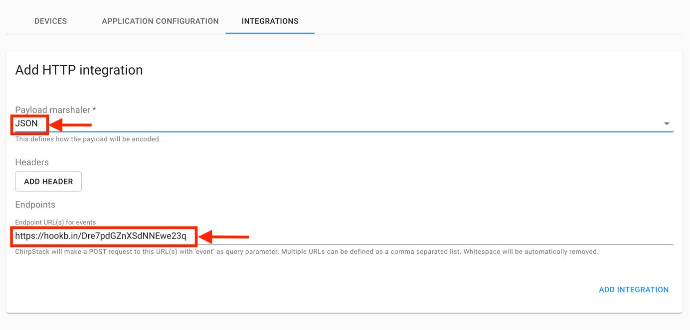 Add HTTP Integration Form