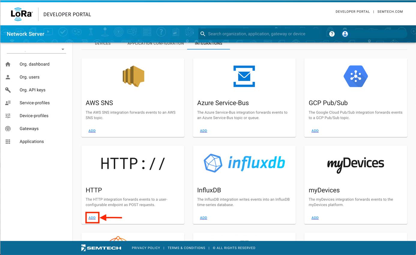 Adding the HTTP Integration